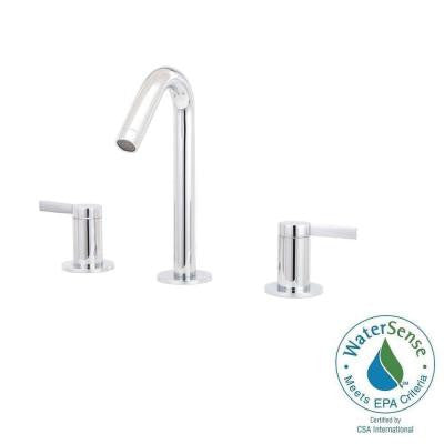 Stillness 8 in. Widespread 2-Handle Mid-Arc Bathroom Faucet in Polished Chrome