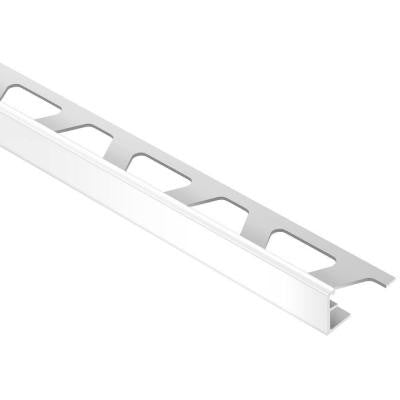 Jolly Bright White Color-Coated Aluminum 1/2 in. x 8 ft. 2-1/2 in. Metal Tile Edging Trim
