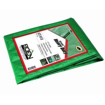 9 ft. x 12 ft. Poly Heavy Duty Green Tarp