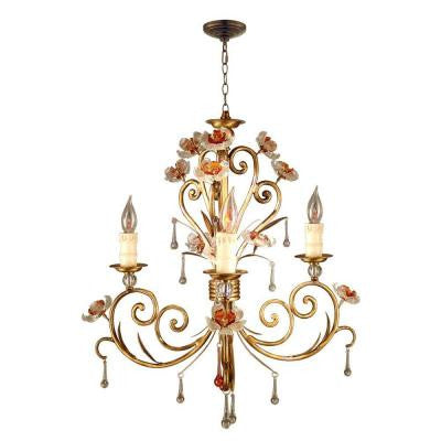 Monticello 3-Light Antique Bronze Hanging Chandelier