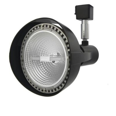 1-Light Black Front Loading Commercial Track Head