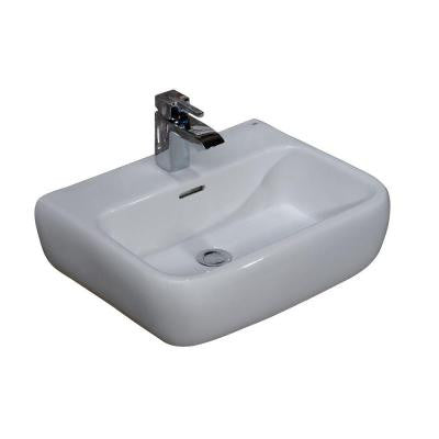Metropolitan 600 Wall-Hung Bathroom Sink in White