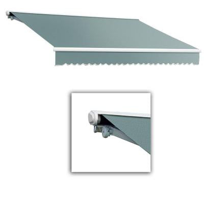 18 ft. Galveston Semi-Cassette Manual Retractable Awning (120 in. Projection) in Sage