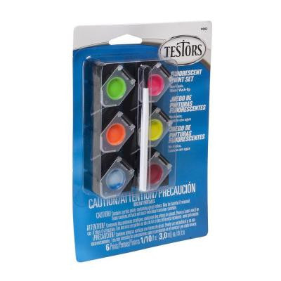 0.10 oz. 6-Color Acrylic Paint Pod Set Fluorescent Colors (4-Pack)