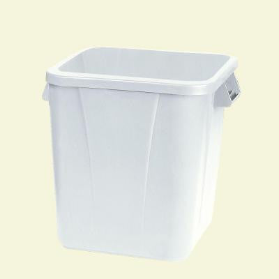 Bronco 28 Gal. White Square Trash Can (6-Pack)