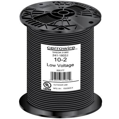 500 ft. 10/2 Landscape Wire - Black