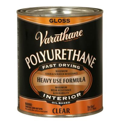 1-qt. Clear Gloss 275 VOC Oil-Based Interior Polyurethane (2-Pack)