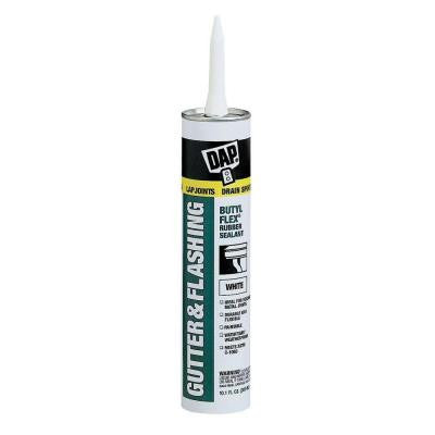 Butyl-Flex 10.1 oz. White Gutter and Flashing Sealant (12-Pack)