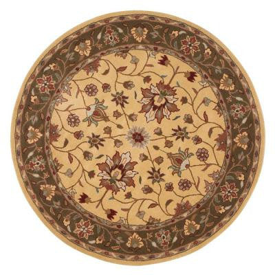 Warwick Gold and Green 7 ft. 9 in. Round Area Rug