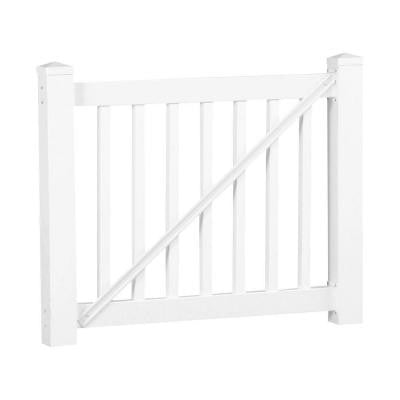 Walton 36 in. x 60 in. Vinyl White Gate Rail Kit