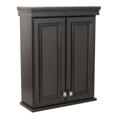 Valencia 22 in. W Over John Wall Cabinet in Antique Black