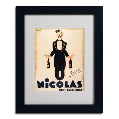 16 in. x 20 in. Nicolas Fines Bouteilles Black Framed Matted Art