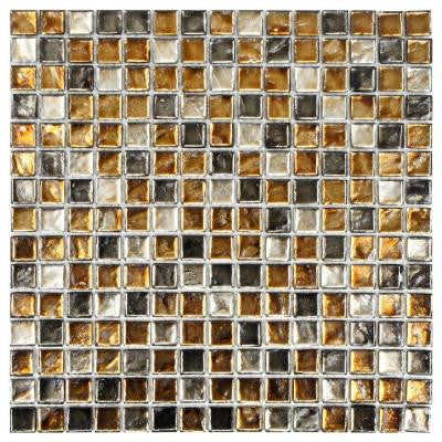 Illuvia Square Radium 12 in. x 12 in. x 8 mm Glass Mosaic Wall Tile