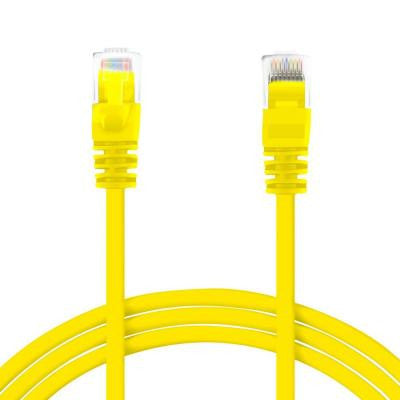 1.5 ft. Cat5e Snagless Ethernet Computer LAN Network Patch Cable - Yellow (100-Pack)