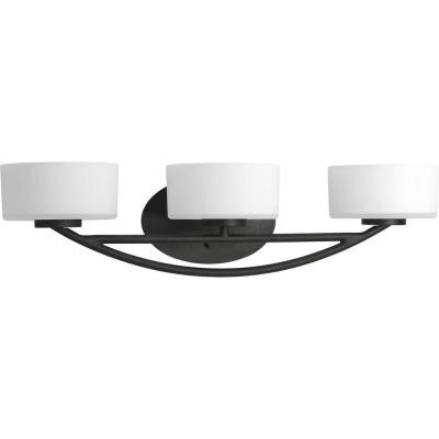 Calven Collection 3-Light Forged Black Bath Light