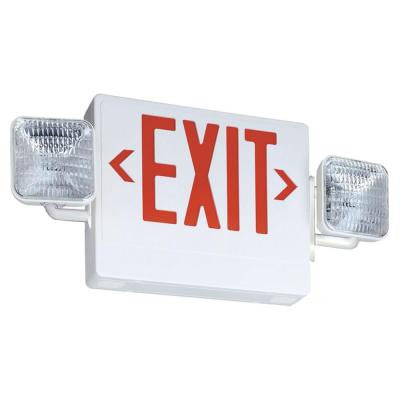 Contractor Select Thermoplastic LED Emergency Exit Sign/Fixture Unit Combo
