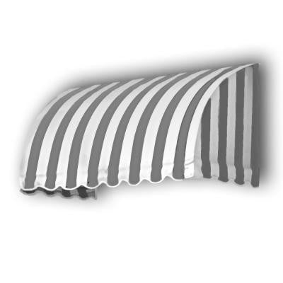 45 ft. Savannah Window/Entry Awning (44 in. H x 36 in. D) in Gray/White Stripe