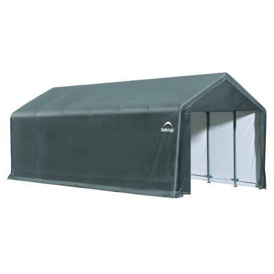 ShelterTube 12 ft. x 30 ft. x 11 ft. Grey Cover Storage Shed Shelter