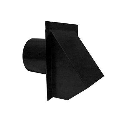 4 in. Round Wall Vent - Black
