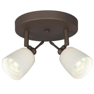 Negron 2-Light Oil Rubbed Bronze Track Head Spotlight with Directional Heads