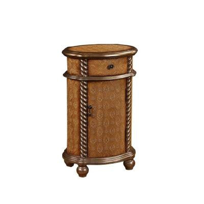 1-Door Wood Cabinet in Brown