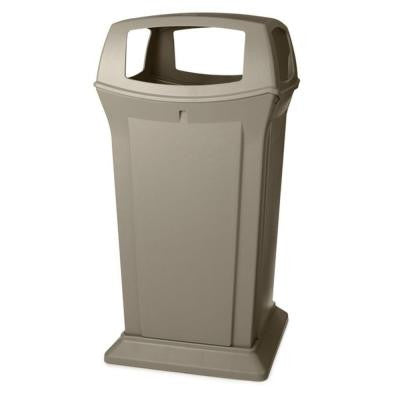 Ranger 65 Gal. Beige Open Side Trash Can