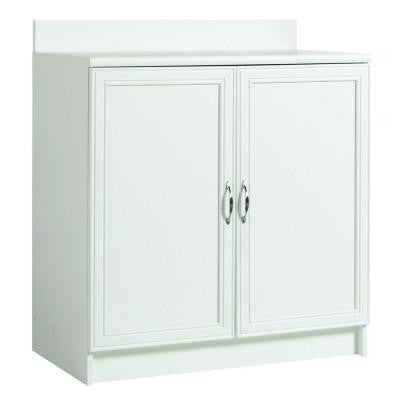 2-Shelf Laminate Base Cabinet with Worktop in White