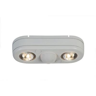 Revolve 180-Degree White Motion Activated Outdoor LED Twin Head Security Flood Light (3500K)
