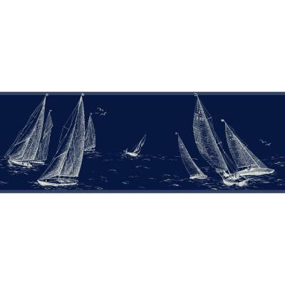 9 in. Nautical Living Sailboat Border