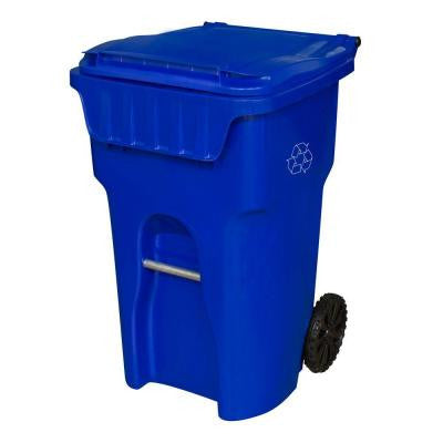 Edge 65 Gal. Blue Wheeled Recycling Container