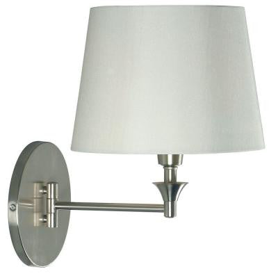 Martin 1-Light Brushed Steel Wall Swing Arm Lamp