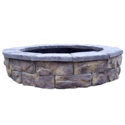 30 in. Concrete Fossill Limestone Fire Pit Kit