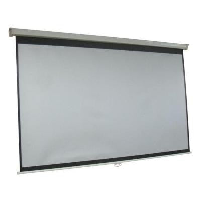ProHT 84 in. Manual Projection Screen with White Frame