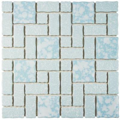 Academy Blue 11-3/4 in. x 11-3/4 in. x 5 mm Porcelain Mosaic Tile
