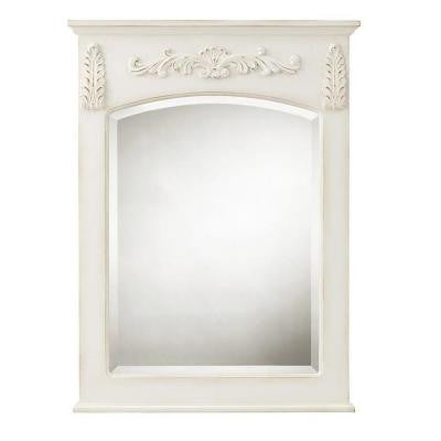 Chelsea 32 in. H x 22 in. W Wall Mirror in Antique White