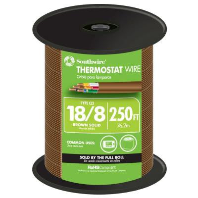 250 ft. 18/8 Thermostat Wire - Brown