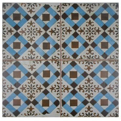 Kings Millbasin 17-3/4 in. x 17-3/4 in. Ceramic Floor and Wall Tile (11.3 sq. ft. / case)