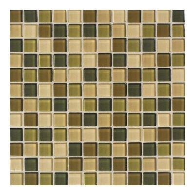 Maracas Rainforest Blend 12 in. x 12 in. x 8 mm Glass Mesh Mounted Mosaic Wall Tile