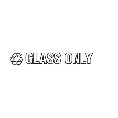 Glass Only Recycle Decal
