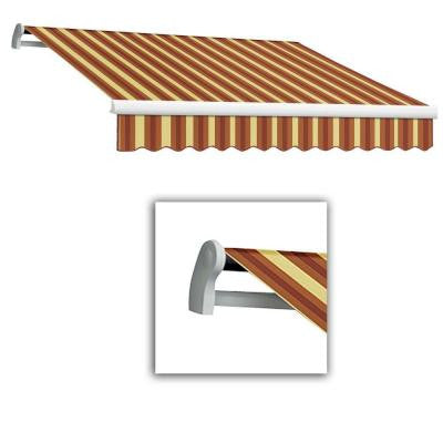 20 ft. LX-Maui Left Motor with Remote Retractable Acrylic Awning (120 in. Projection) in Burgundy/Tan Wide