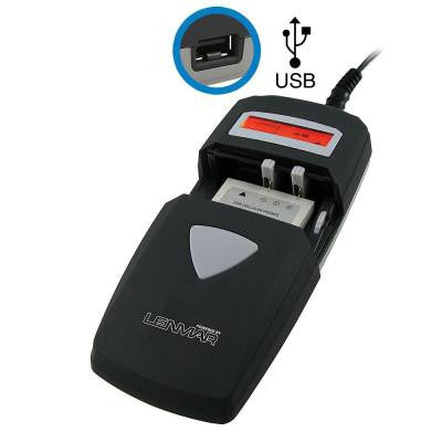 Lithium Ion and Nickel-Metal Hydride All-in-One AC/DC Battery Charger with USB Port