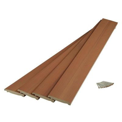 ArmorGuard 48 in. x 5 in. x 5 in. Coastal Cedar Composite Post Wrap
