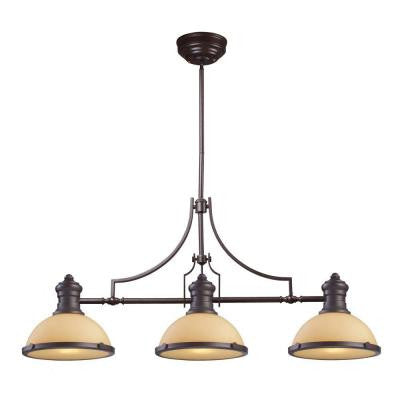 Chadwick 3-Light Oiled Bronze Ceiling Mount Island Light