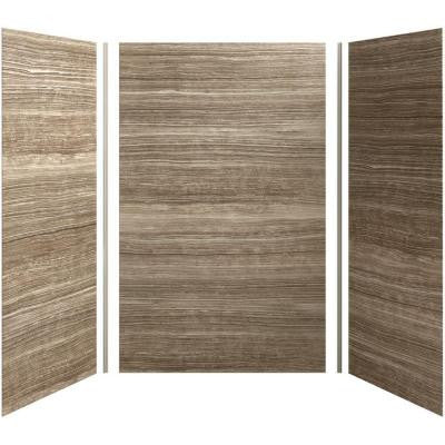 Choreograph 60in. X 42 in. x 96 in. 5-Piece Shower Wall Surround in VeinCut Sandbar for 96 in. Showers