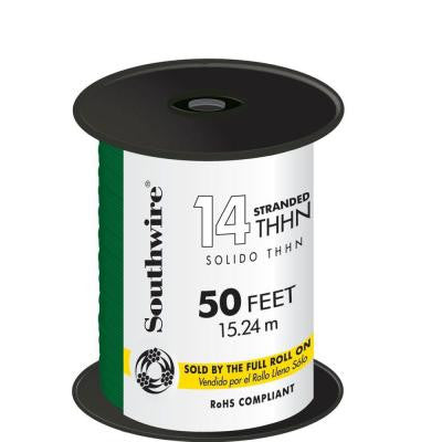 50 ft. 14 Stranded THHN Wire - Green