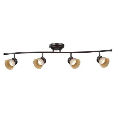 Andora 4-Light Oil Rubbed Bronze Dimmable Fixed Track Lighting Kit