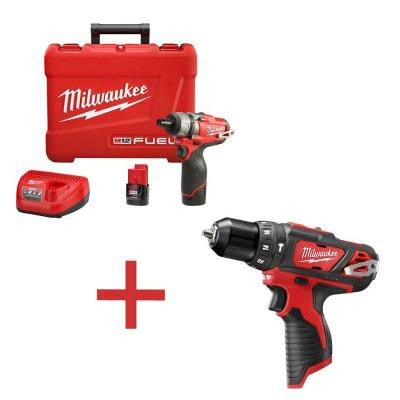 M12 FUEL 12-Volt Lithium-Ion Brushless 1/4 in. Hex Cordless Screwdriver Kit with M12 3/8 in. Hammer Drill/Driver