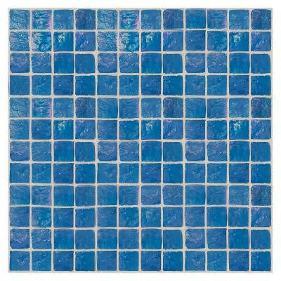 Egyptian Glass Nile 12 in. x 12 in. x 6 mm Glass Face-Mounted Mosaic Wall Tile
