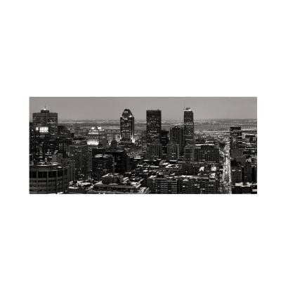 10 in. x 19 in. Montreal City Canvas Art