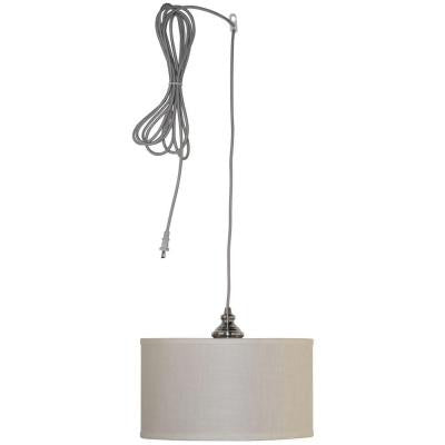 Carroll 1-Light Brushed Nickel Swag Drum Pendant